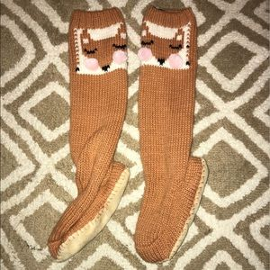New Aerie Fox sock slippers